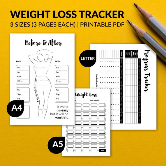 Printable Weight Loss Tracker Etsy
