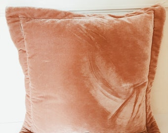 Peach Chenille Cushion.