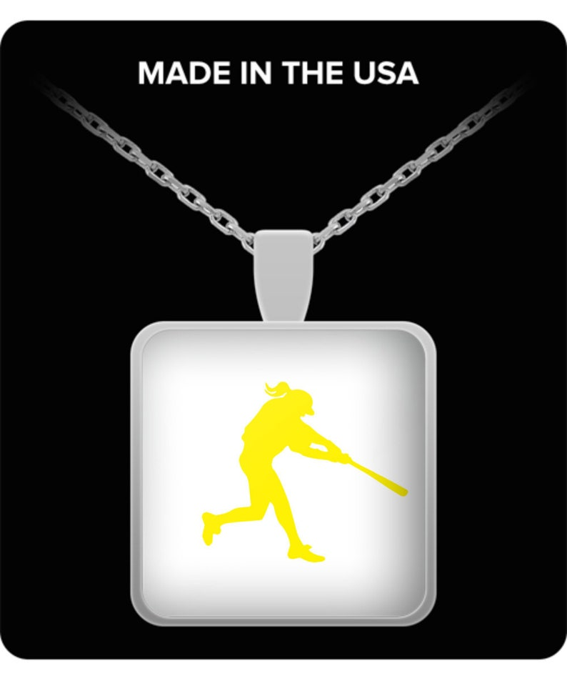 awesome softball necklace gift for her Softball