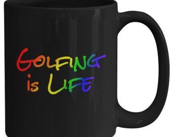 Golfing is life - coffee mug gift