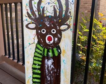 Reindeer in the Christmas Lights