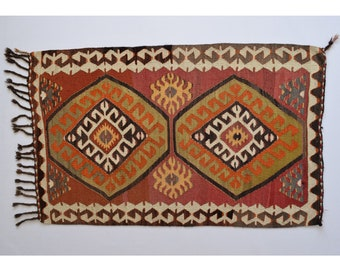 handmade kilim 27x44ft 83x135cm tapis kilim kilim tapis persan tapis kilim 3x4 petit tapis turc tapis kilim tapis persan tapis marocain - Tapis Kilim