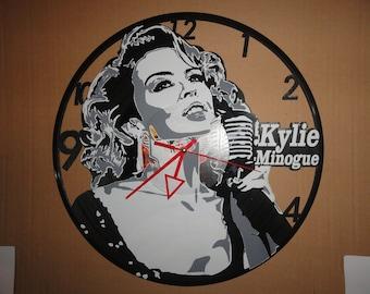 cd80b38aef Vinyl Record Art Clock KYLIE MINOGUE unique gift idea