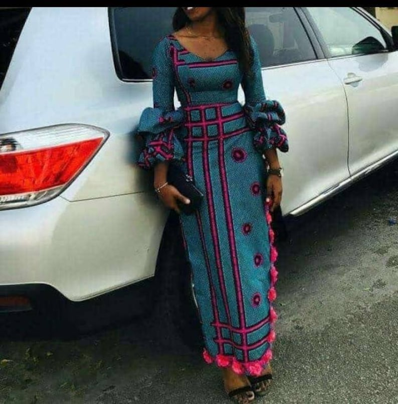 5452e4bd595c African print midi dress-Ankara maxi dress-Christmas   Etsy