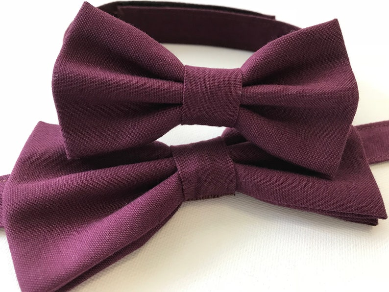 Adult Bow Tie Black Maroon Navy Sky Blue Pink Dark Green Gold Silver Grey White