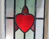 A Pair of Original Late Victorian Stained Glass Windows. Circa 1890