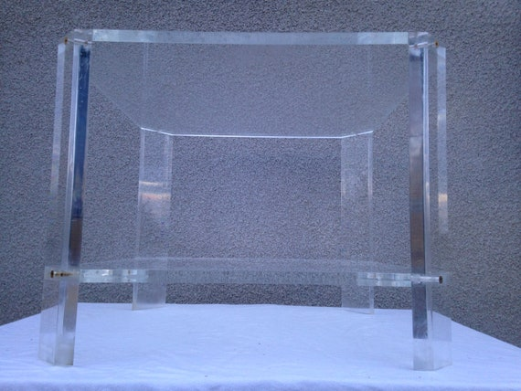 Lange Smalle Sidetable.Lucite Vintage Coffee Table Made By David Lange
