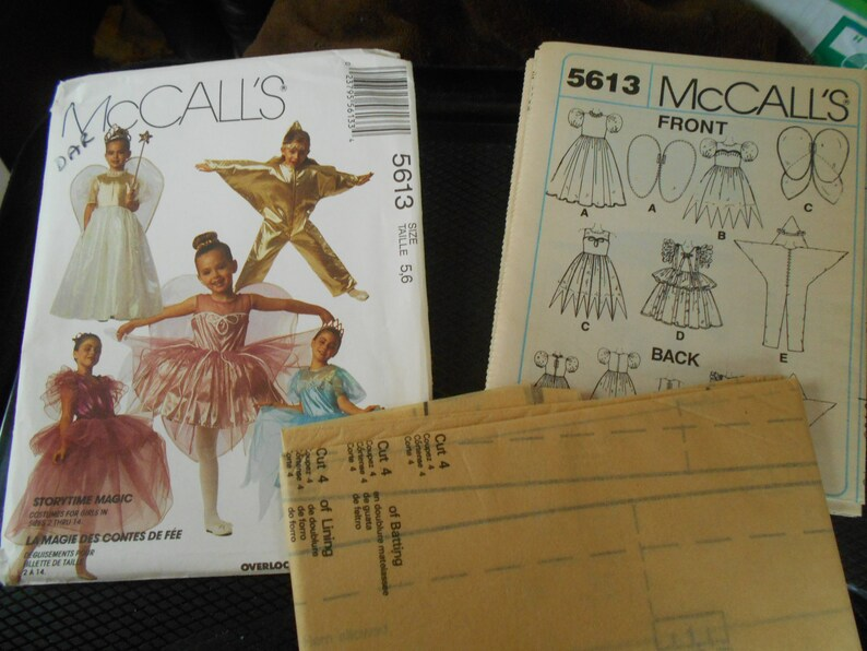 McCall/'s 5613 paper mod podge Sewing pattern for Halloween