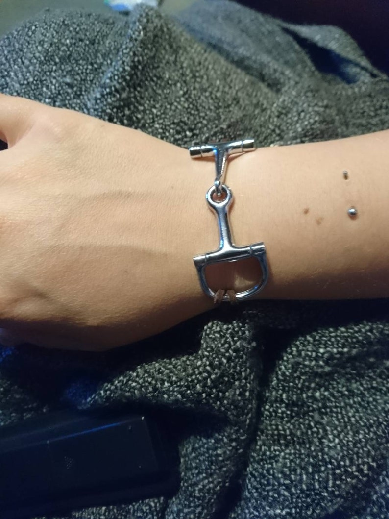 Snaffle Bit Bracelet Equestrian Jewellery Pony Horse Silver Plated Chain