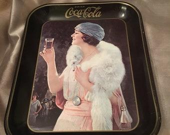 Vintage metal Coca Cola memorabilia tray circa 1973