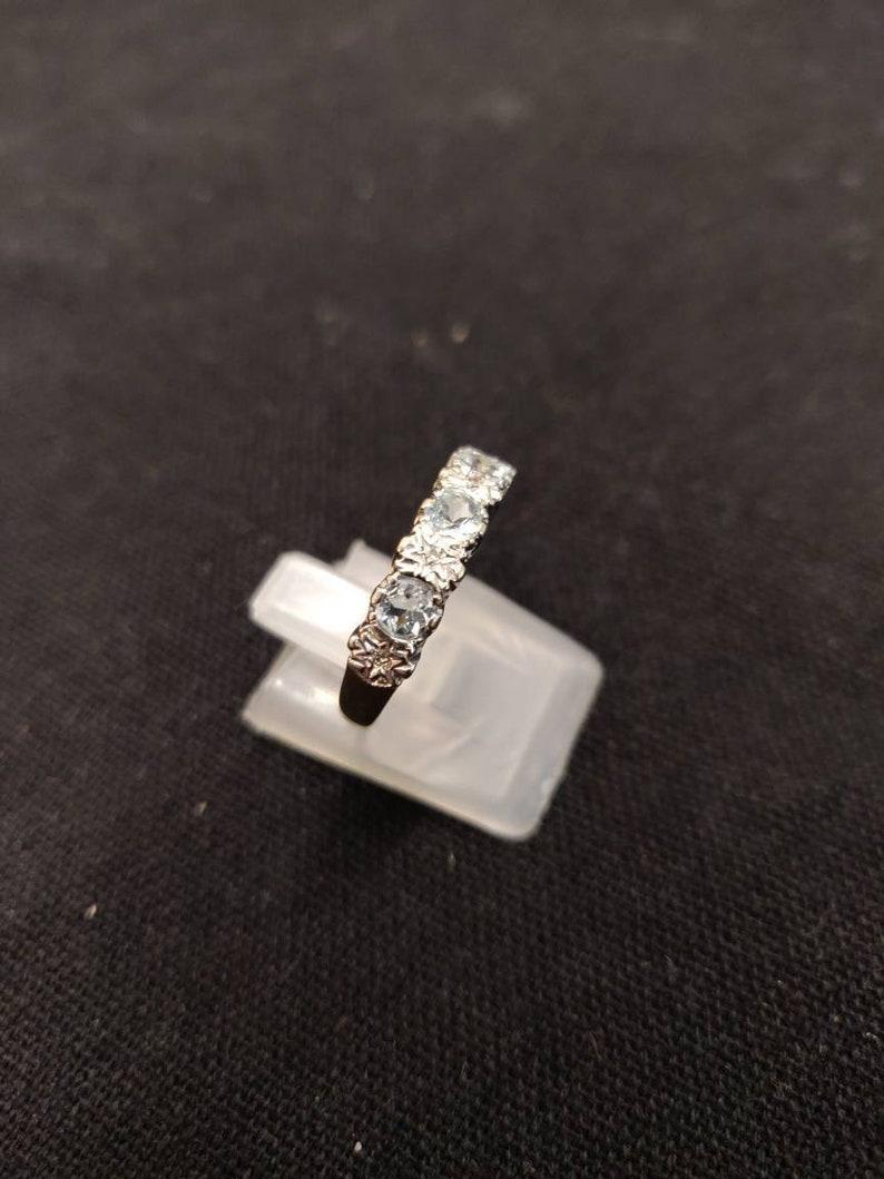 Aquamarine Diamond Eternity Ring