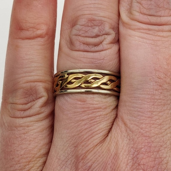 Celtic Gold & Silver Ring - image 5
