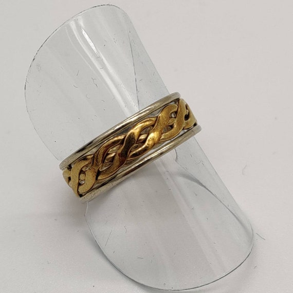 Celtic Gold & Silver Ring - image 2