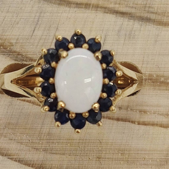 Opal & Sapphire Ring