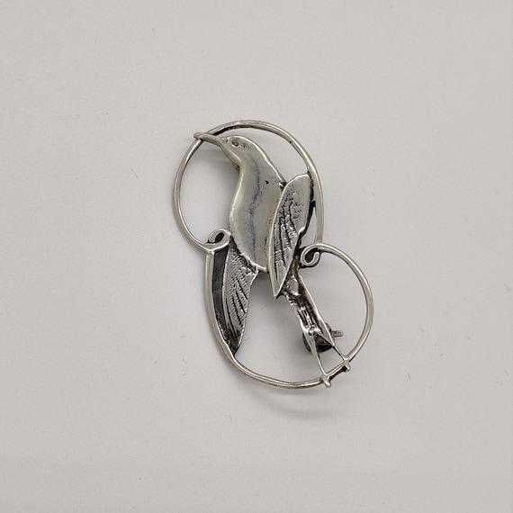 Shetland Silvercraft Silver Swallow Brooch