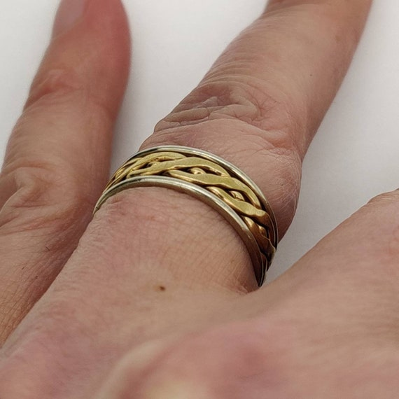 Celtic Gold & Silver Ring - image 6