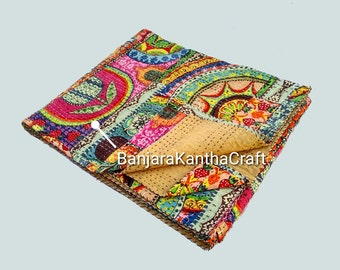 Multi Design Stylish Kantha Quilt Bedspread Bedsheets Bedcover Blanket Throw Baby Quilt Blanket Queen Size King Size Twin Size for decor