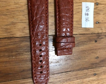 Brown Leather watch band Strap 100%  24mm/22mm #VN016