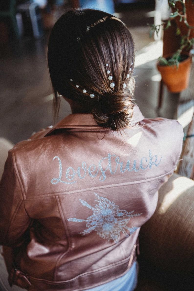 Lovestruck Rose Gold Leather Jacket