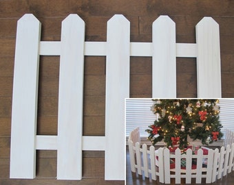 Christmas Tree Fence Etsy
