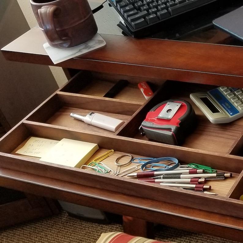 Custom Desk Drawer Organizer Walnut image 0