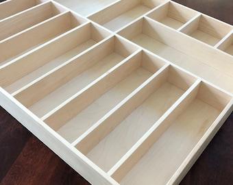 Custom Drawer Organizer, Maple