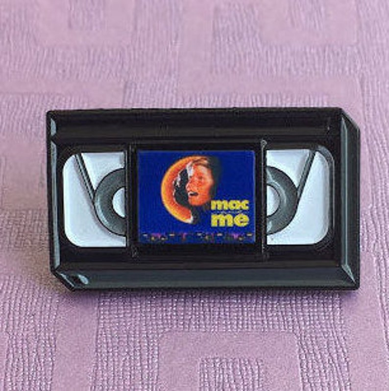 Retro Mac and Me VHS Tape Enamel Pin with Removable Mini Magnet  Customised  Request Available, Pins, Movies, Enamel Pins, Personal Gift