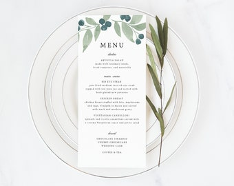 print your own menu etsy