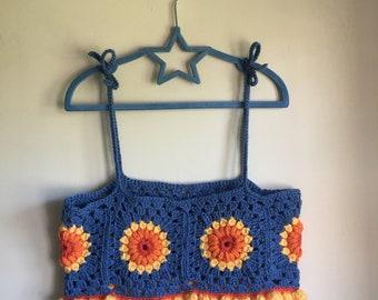 Sunburst Crochet Top