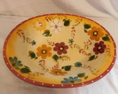 D Oneida Kitchen Hand Painted Sunset Bouquet Oval Pasta Serving Bowl Vibrant Bold Eye Catching