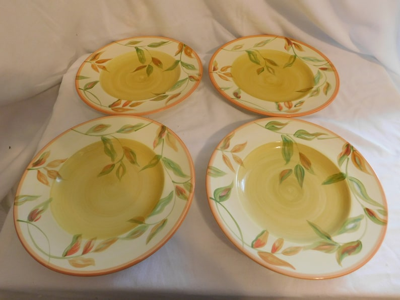 D The Cellar made for Macy/'s Department Store Dinner Plates Lot of 4  Summer Fun and Bright
