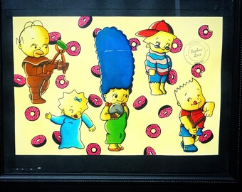 Simpsons doll watercolor print