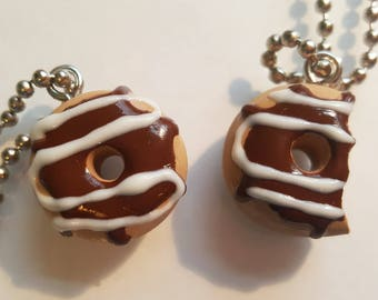 Chocolate Frosted Donut Charm