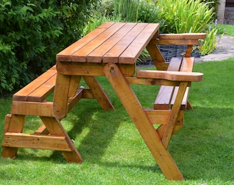 Fine One Piece Folding Bench And Picnic Table Plans Downloadable Evergreenethics Interior Chair Design Evergreenethicsorg