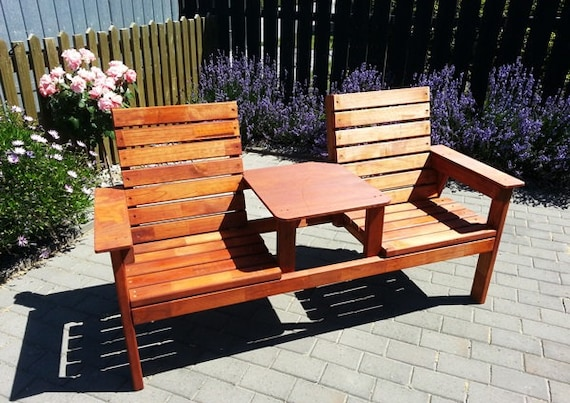 Tremendous Double Seat Bench With Table Plans Caraccident5 Cool Chair Designs And Ideas Caraccident5Info