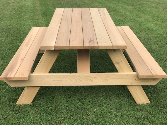 Traditional Picnic Table Plans Backyard Furniture Etsy