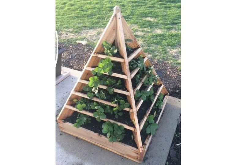 Strawberry Pyramid Planter Plans Tower Planter Plans Herb image 0