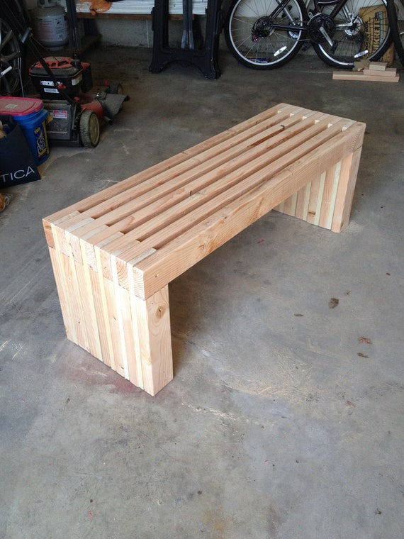 Simple Bench Plans Outdoor Furniture DIY 2x4 Lumber Patio | Etsy