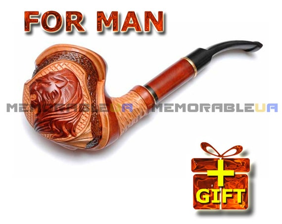 Ceremonial Pipe Wood Tobacco Pipe Pipe For Smoking Gift Ideas Etsy