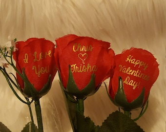 Light up personalized rose