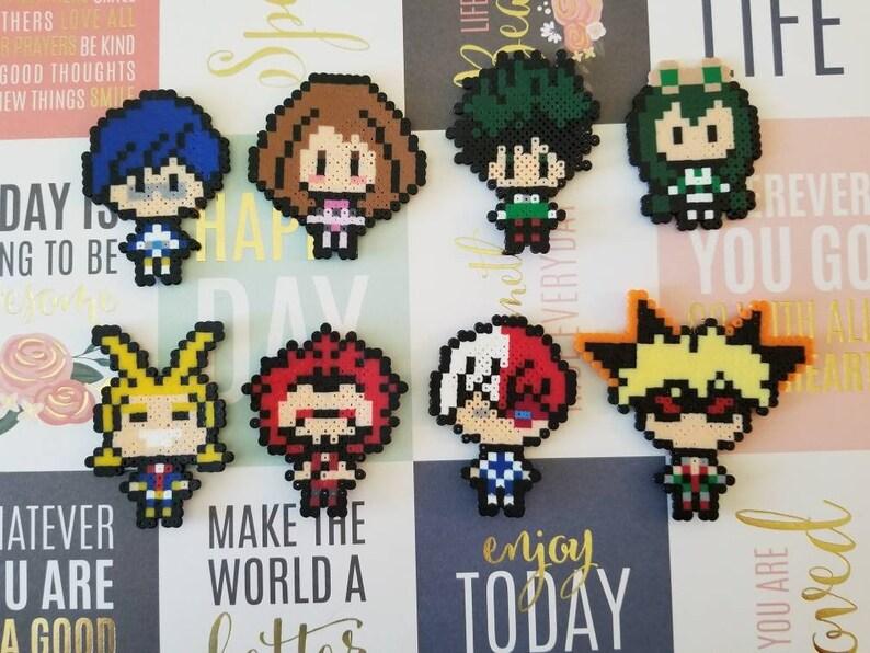 My Hero Academia Perler Set or Singles, Magnet, Keychain, Pin, Anime, Boku  no Hero Academia, Hero, Quirk, Gift for Nerds