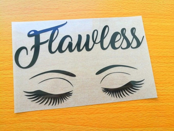 80a8b957aa0 Flawless iron on decal eyelashes heat transfer patch | Etsy