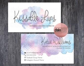 lipsense business card lipsense business cards watercolor business cards senegence lipsense business cards vistaprint - Senegence Business Cards