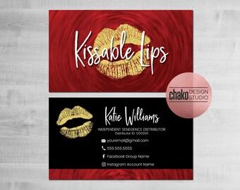 lipsense business cards senegence business cards distributor makeup business card red gold black glitter ls06 - Senegence Business Cards