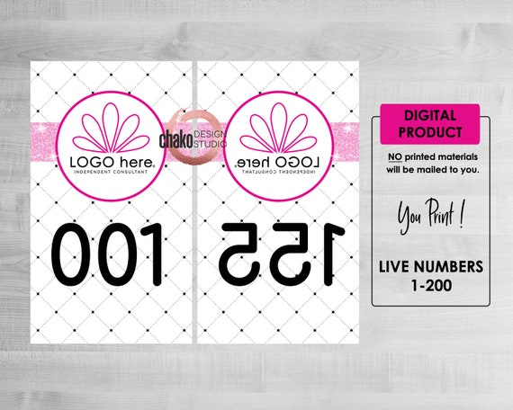 Live Sale Numbers 1 - 200 Instant Download, Number Cards, Facebook Live  Number Tags, Jewelry Business Live Numbers, Numbers for a live, PZ16