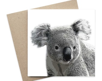 Benjamin / Koala Australian Animal Greeting Card / Digital Artwork
