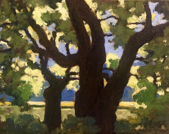 """Original oil painting """"Sunlit Morning"""" by Dotty Hawthorne"""