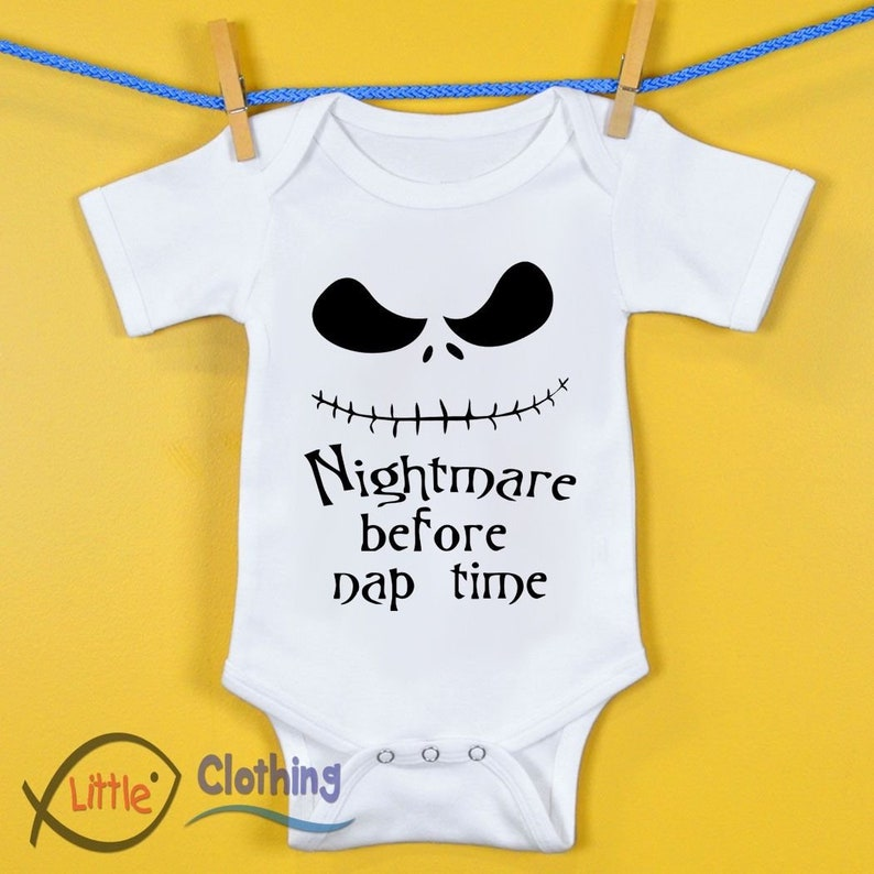 0d950cef4c590 Nightmare Before Nap Time Funny Baby Vest Gift Halloween | Etsy