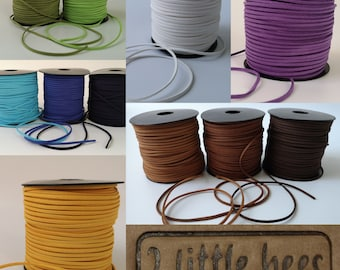 Flat Real Suede Leather Cord Lace Thong Jewellery Making String Craft 1M YJ