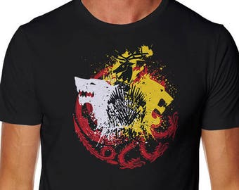 Game of Colors T-shirt - Wolf Shirt - GOT T-shirt - King in the north T-shirt - White Wolf T-shirt - The North Tshirt - Tv Show